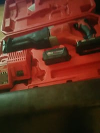 Milwaukee cordless Sawzall  ,2 batteries withbcharger