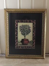 """Glass Enclosed print with hardwood frame 21w x 26""""h Newport Beach, 92660"""