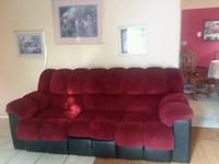 red suede 3-seat sofa Tulare, 93274