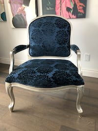 Silver and Teal Antique Style Chair Mississauga, L5L 1A1
