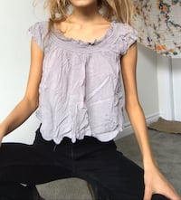 off should top. creamy-grey-pink colour. flowy when ironed. Oakville, L6H 0R2