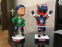 Rare St. Patrick's Day Anders Lee Bobblehead+ Home Sparky Mascot Bobblehead New York, 11234