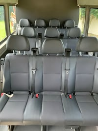 Leather seat set for sprinter van - set 13 seats! And adjustable rear wall