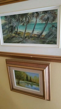 brown wooden framed painting of trees Montréal, H3R 2E6