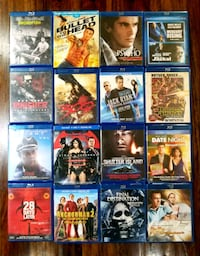 assorted Blu-ray movie cases Mississauga, L5V 2R4