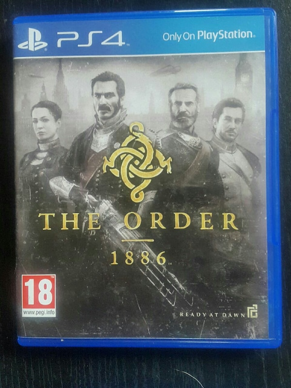1886 The Order PS4 game case