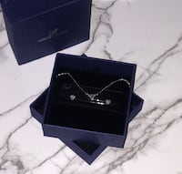 BRAND NEW - Swarovski diamonds, heart shaped necklace and earrings set Toronto, M9M 1R3