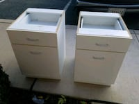2 WHITE UNDER TABLE CABINETS Forest Hill, 21050