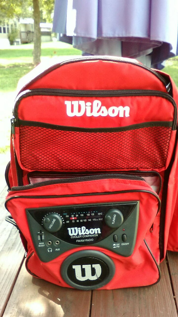 Insulated backpack with radio
