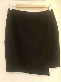 Womens RW&Co Asymmetrical front black work skirt.  Vancouver, V6B 3B6
