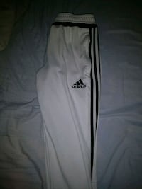 white and black Adidas track pants Toronto, M2R 3B1