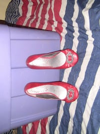 miss bisow red shoes women's used size 7 1/2 Minneapolis