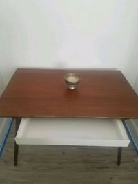 brown wooden with drawer table 910 mi