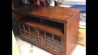 brown wooden TV hutch with cabinet Frederick, 21702