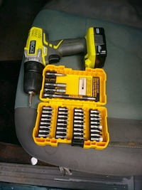 Ryobi drill with charger and dewalt bits Shelbyville, 37160