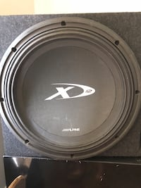 Alpine x12 Subwoofer with amp in custom box Baltimore, 21224
