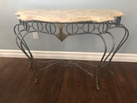 Marbled Topped Console Table Yonkers