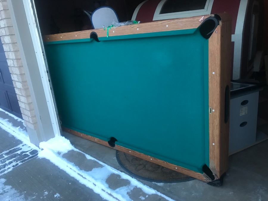 blue and green pool table for sale  Pelham