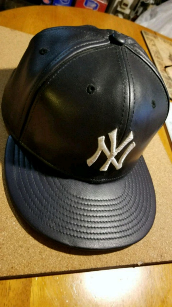15bcca113d7 Used New Era 59FIFTY Black Leather NY Yankees bb hat for sale in ...