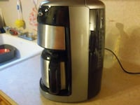 silver and black 12 cup coffeemaker