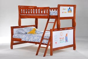 Scribbles Twin/Full Bunk Solid Wood   ** New-in-Box **
