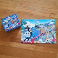 Thomas the Train kid's puzzle with tin Sterling