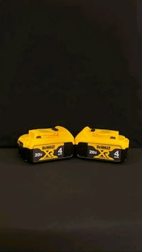 new (2) Batteries Dewalt XR4  Woodbridge, 22193