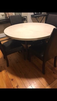 Round Marble Top Dinning table
