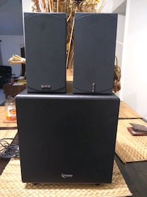 Subwoofer and two infinity speakers