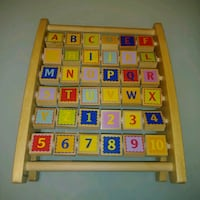 PREOWNED: EDUCO alphabet & numbers wooden abacus   Edmonton, T6X 1J9