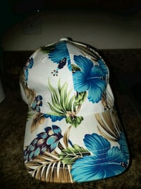 blue, white, and green floral print backpack Abbotsford, V2S 3M8