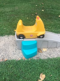 toddler's yellow and blue plastic slide Watchung