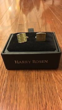 Two silver Harry Rosen cuff links in box Mississauga, L4Z