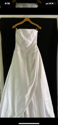 Size 4 White Strapless Wedding Dress and Vail Rockville, 20850