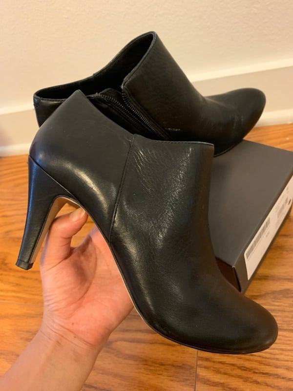 Vince Camuto Black Booties In Size 5.5 like new 306c876b-e40d-4fa2-9fcc-cd1a78474b8c