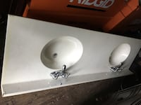 His/hers dual white ceramic sinks with faucets Eatontown, 07724