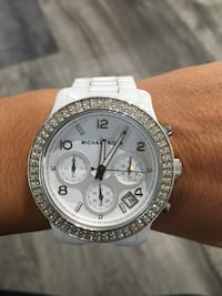 White Michael Kors ceramic watch. Comes with extra links! Palm Harbor, 34685