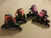 two pairs of kids inline skates Lafayette, 70503