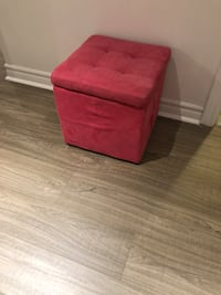 red fabric ottoman with storage Montréal, H3X