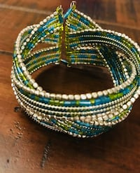 Blue, Green, and Silver Bracelet San Antonio, 78023