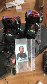 Lebron James autographed card and shoes Miami, 33169