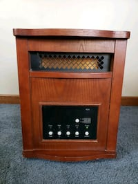 brown and black electric fireplace Hebron, 46341