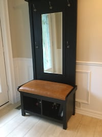 Tree hall for coats and shoes great for your hallway or mudroom. Elegant 33 1/2 inches wide 18 inches depth and 74 inches height. The cubby holes are 13 x 13 Mississauga, L5H