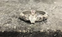 .925 Sterling Silver Opal Claddagh Ring Size 10  $35 OBO  Edmonton, T5H 2M5