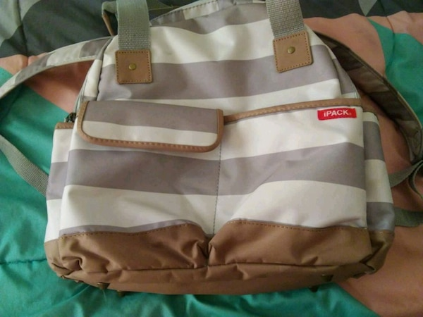 61c4803e5be8 Used gray and brown duffel bag for sale in Beaumont - letgo