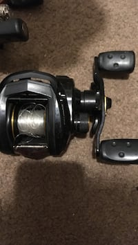black and brown fishing reel Clarence, 49224