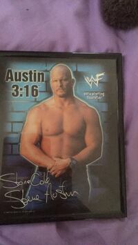 stone cold autographed picture