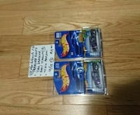 two black Hot Wheels car scale models