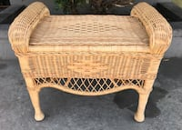Natural Honey Wicker Ottoman / Bench - 2 Styles / NEW  Buena Park, 90621