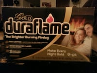 Gold Duraflame burning fireflog box Tulsa, 74135